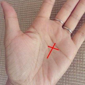 X型の手相