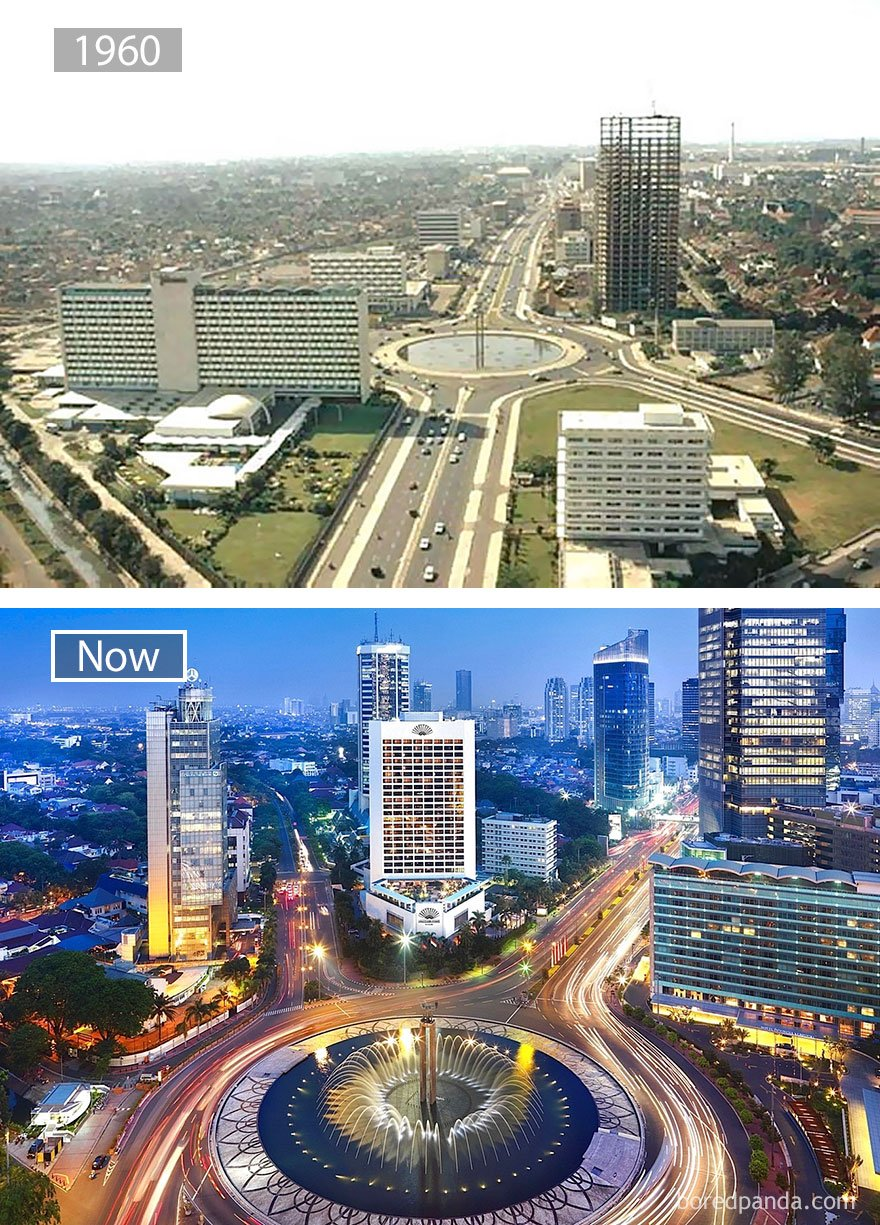 Jakarta, Indonesia 1960 And Now