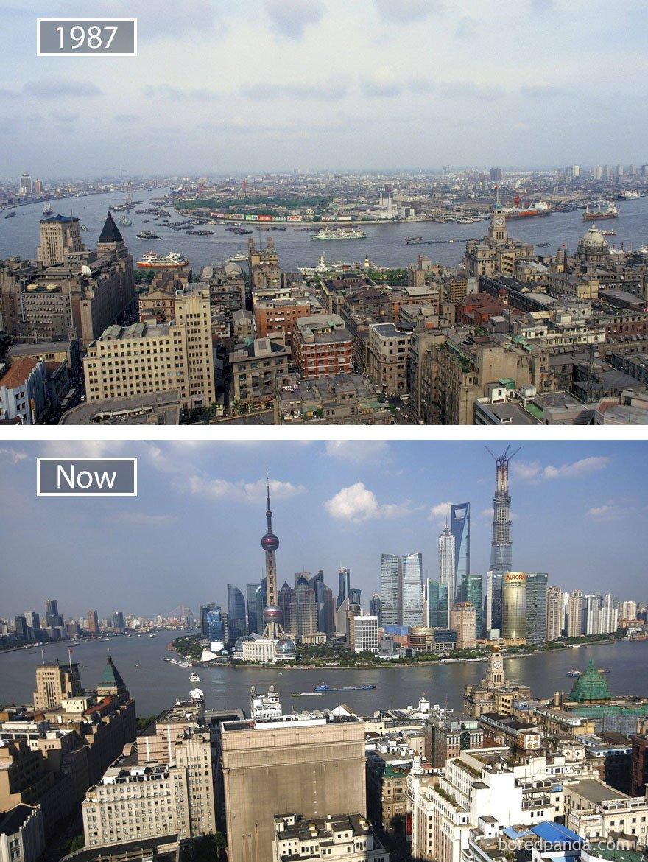 상하이, 중국 - 1987 그리고 지금