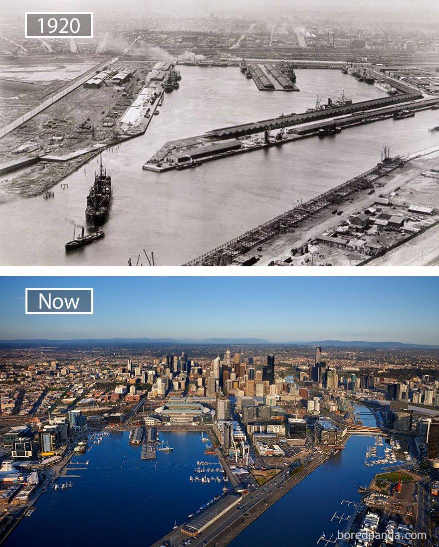 멜버른, 호주 -1920 그리고 지금