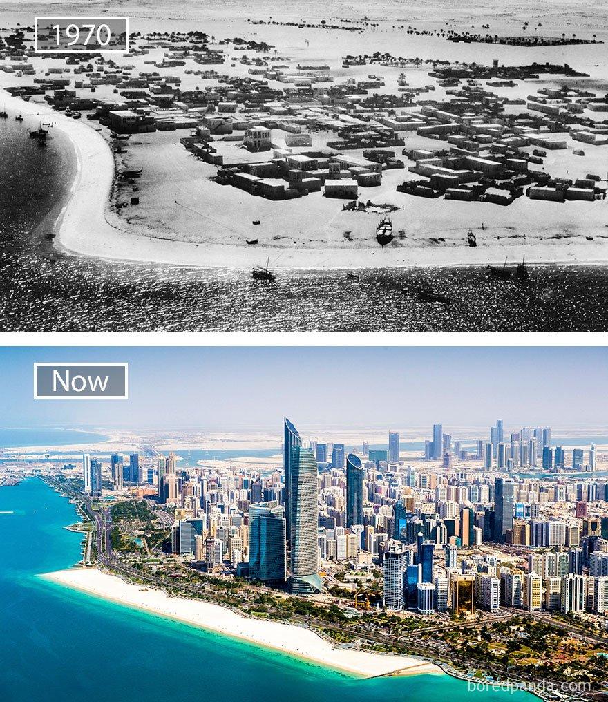 아부 다비, 아랍 에미리트 - 1970 그리고 지금