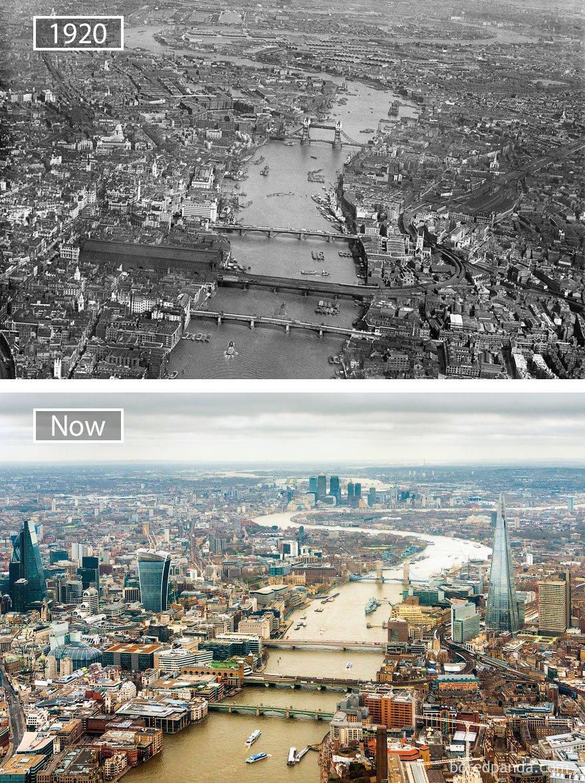 런던, 영국 -1920 그리고 지금