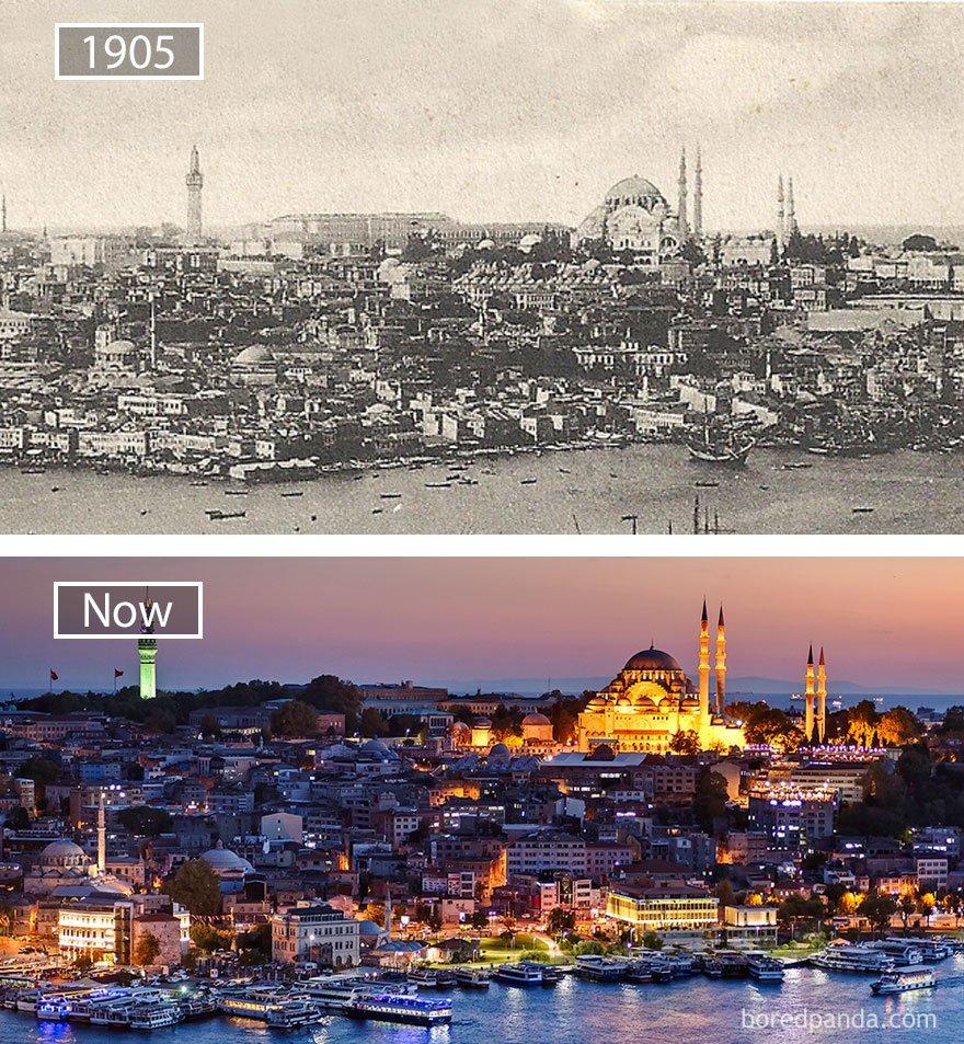 이스탄불, 터키 - 1905 그리고 지금