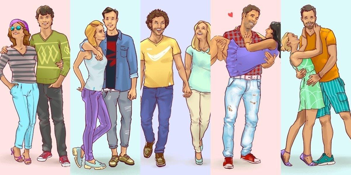 一番幸せそうなカップルを選んでください