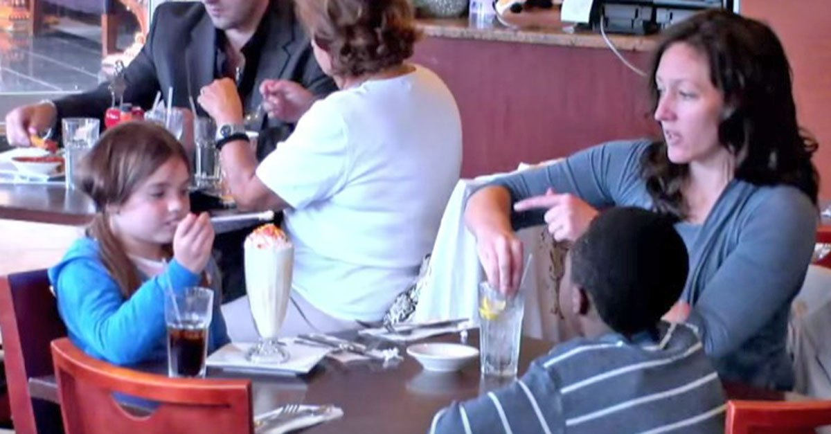 Screen Shot 2016 03 16 at 10.50.44 AM.jpg?resize=1200,630 - Foster Son Starves While Mom And Daughter Eat, But Watch What The Onlookers Do