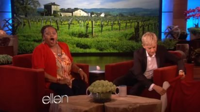 ellen surprises woman 2 412x232.jpg?resize=412,232 - Watch This Single Mom Sobbing With Joy When Ellen Steps In To Do This!