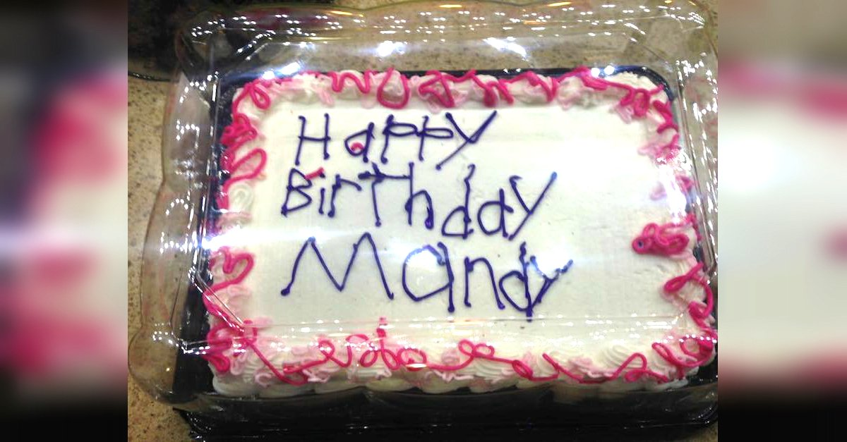 12.2.1 A.jpg?resize=300,169 - Mom Finds Out Disabled Employee Wrote On Her Cake, Then Shares The Photo On Facebook
