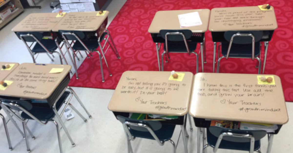 13161779 996164727144944 1670491592061730035 o1.jpg?resize=1200,630 - Teacher Wrote Individualized Messages On Students' Desks On The Day Of The Exam