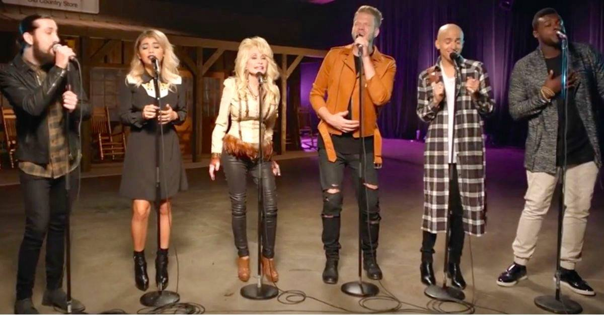 DollyPartonAcapella.jpg?resize=412,232 - Dolly Parton Sang Acappella Version Of 'Jolene' With Pentatonix