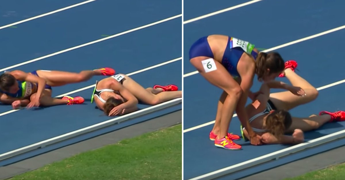 Hp runners new1.jpg?resize=412,232 - Olympic Athlete Helped Fellow Runner After She Fell To The Ground During A Race
