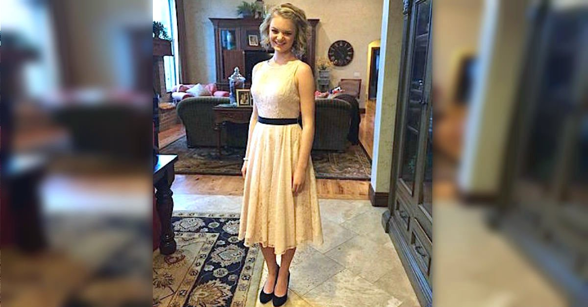 MAIN This girl was told her dress was too revealing for high school dance copy.jpg?resize=412,232 - School Humiliated Teen Girl For Wearing Lace Dress To A High School Dance