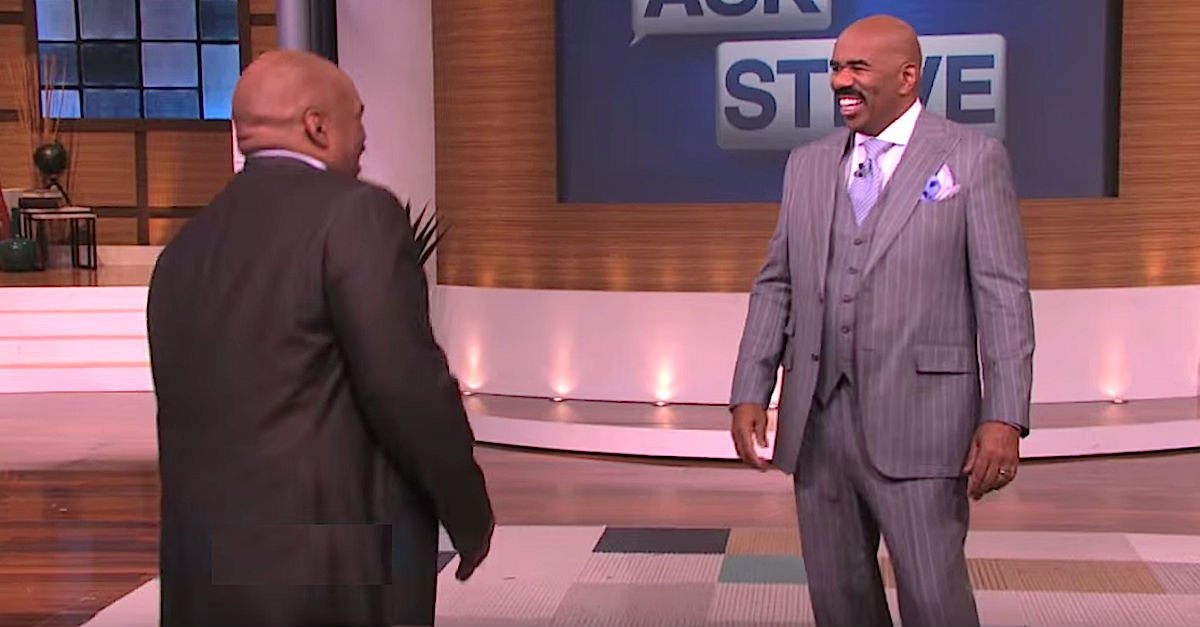 Screen Shot 2016 05 06 at 5.jpg?resize=1200,630 - Guest Told Steve Harvey He Had An 'Identity Problem,' Steve Couldn't Stop Laughing After Seeing Him