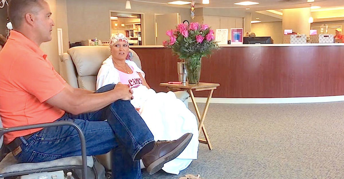 Screen Shot 2016 07 02 at 102 - On Her Last Day of Chemo Treatment, Watch What Her Husband Does..