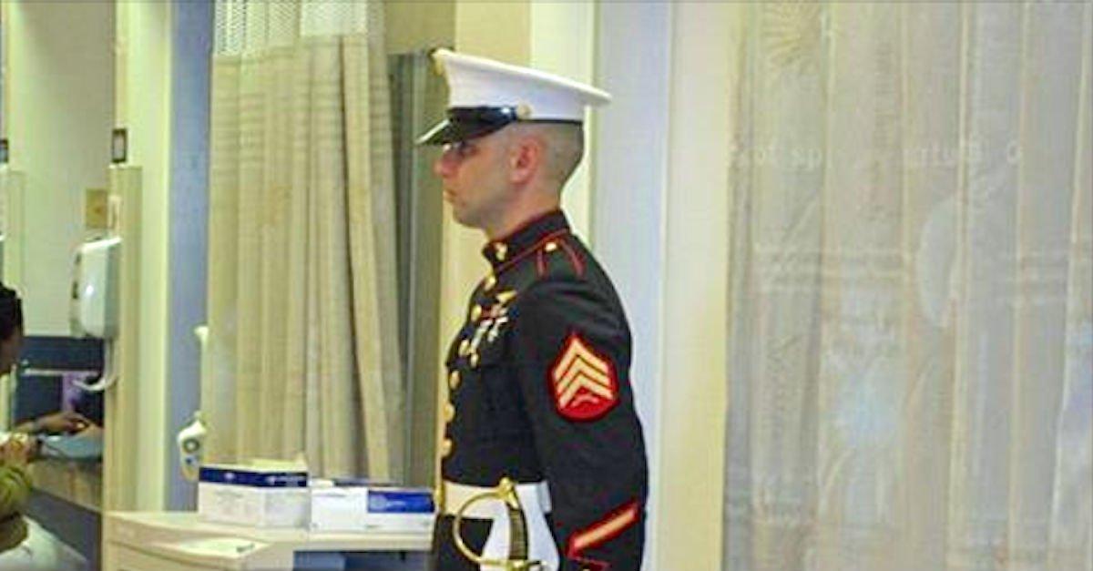 Not marine son suprise return 6