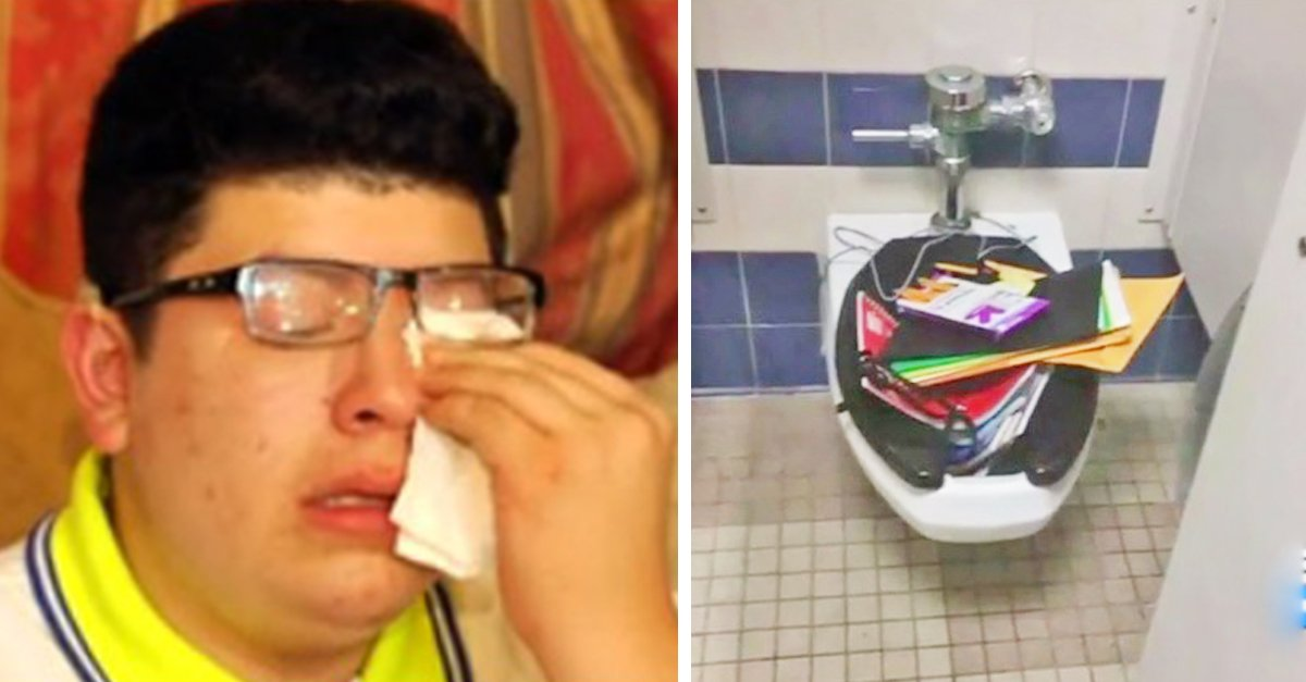 deaf student.jpg?resize=1200,630 - Mother Pulled Deaf Student Out Of School After Bullies Threw His Notebooks In The Toilet
