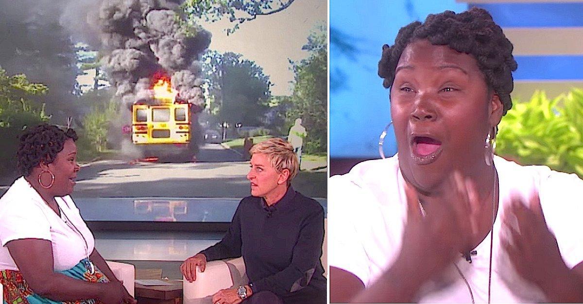 ellen bus fire.jpg?resize=412,232 - Mom Saved 20 Kids From Burning Bus, Ellen DeGeneres Prepared Incredible Gift For Her!