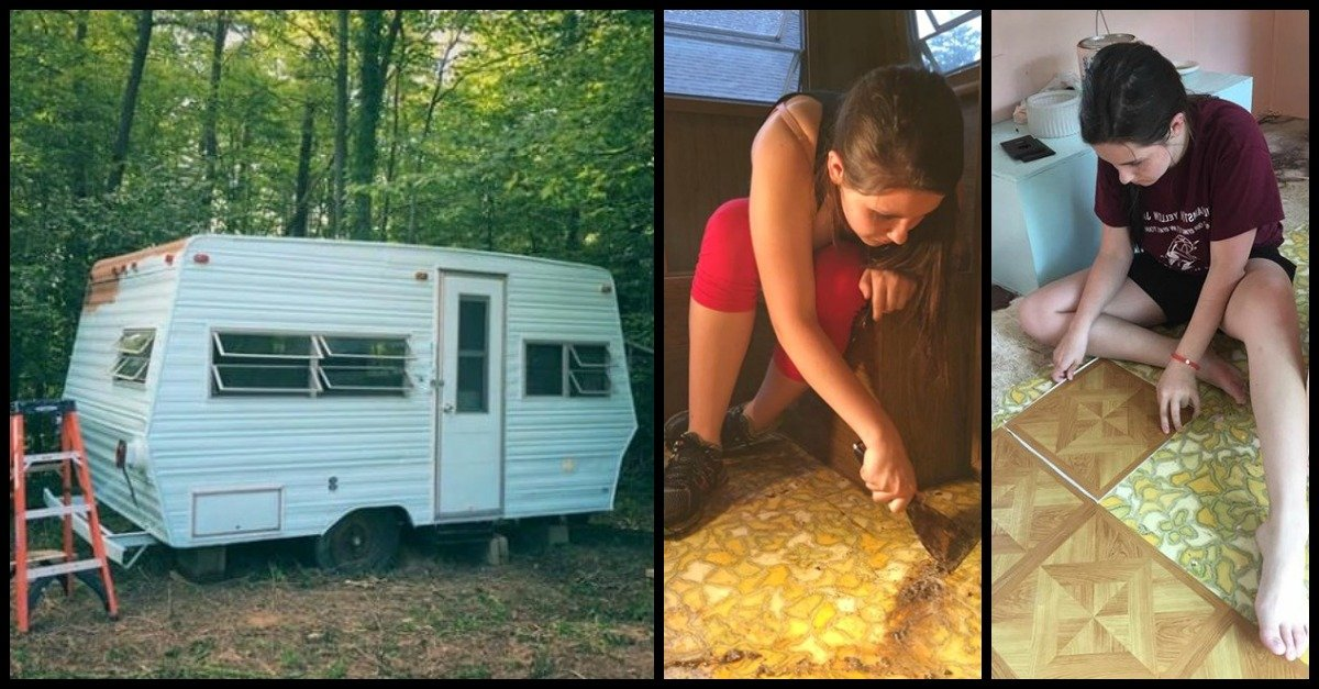 glamp2.jpg?resize=1200,630 - From Camper To Glamper! 14-Year-Old Beautifully Transformed Her 1974 Camper