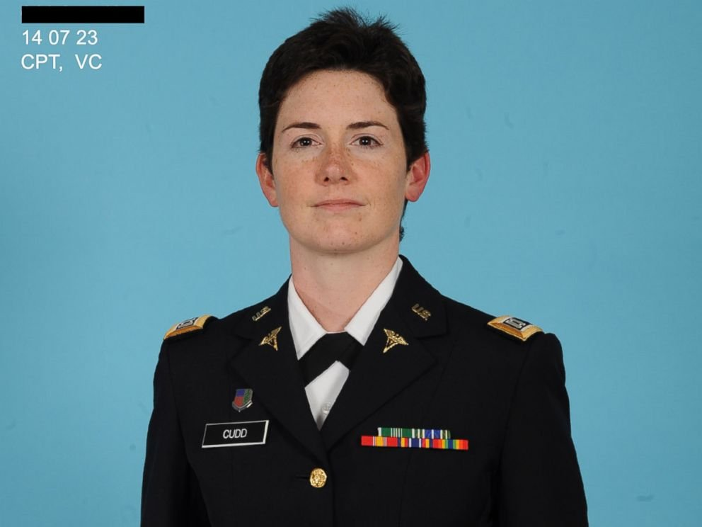 Sarah Cudd in her official Army photo. Image via ABC News