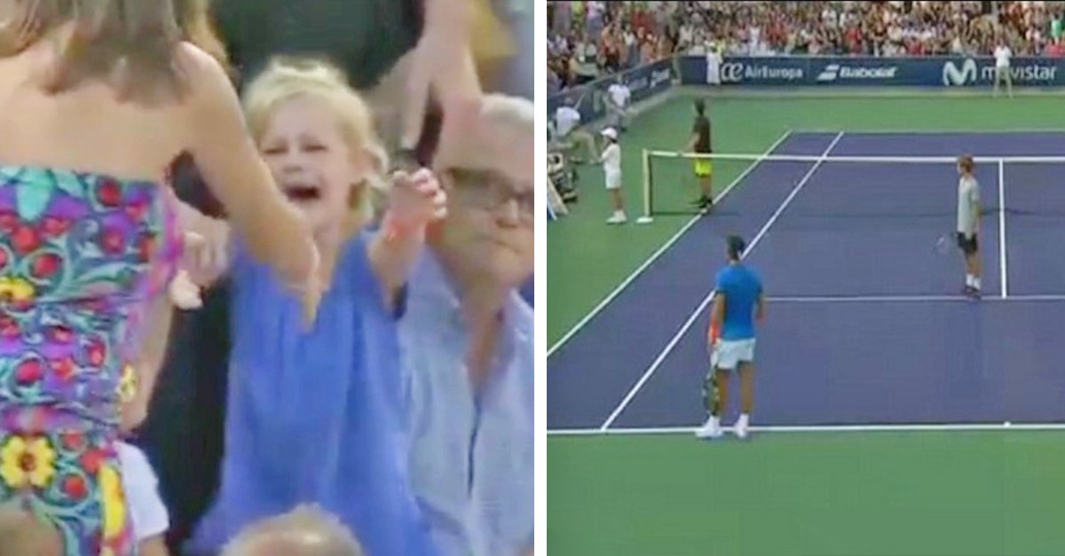 lost girl.jpg?resize=1200,630 - Tennis Player Rafael Nadal Stops The Match To Find A Lost Child