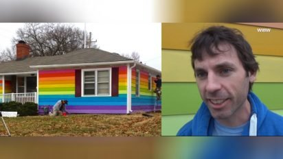 rainbow house against hatred 412x232.jpg?resize=412,232 - Man Is Tired Of The Neighborhood Bullies, So He Remodels The House With Rainbow Color As Revenge