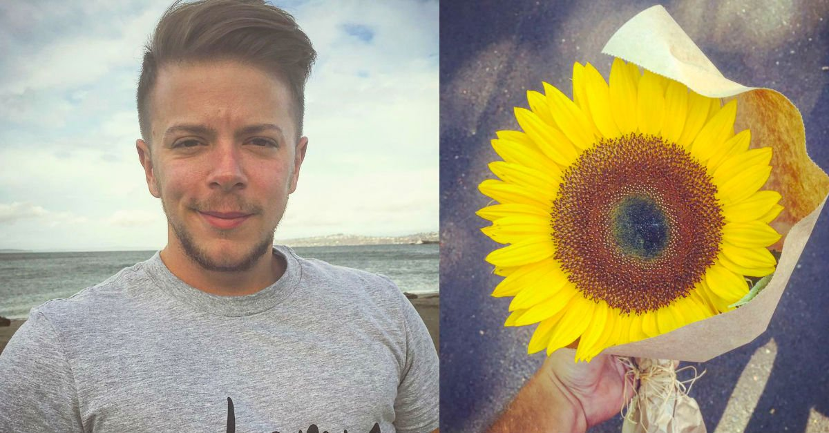 sunflowerA.jpg?resize=412,275 - Woman Left In Tears After Stranger Gave Her A Sunflower Days After Her Fiance Passed Away