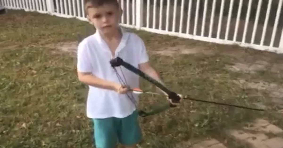 bow and arrow.png?resize=1200,630 - This Kid Showed The Most Epic Way To Pull Out A Tooth - With A Bow And An Arrow!