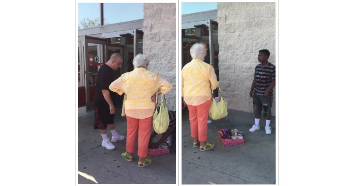 collage 2017 01 11 1.png?resize=1200,630 - Man Confronted Elderly Woman After She Began Screaming At A Kid For Selling Candy Bars