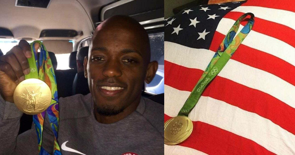 jeff henderson gold medal mom.jpg?resize=1200,630 - After Promising To Win Her The Gold, Long Jumper Rushed To Sick Mom's Bedside With Her Prize