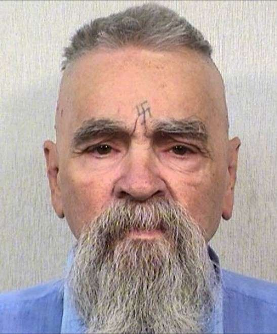 Manson in 2014. Image via California Department of Corrections and Rehabilitation.