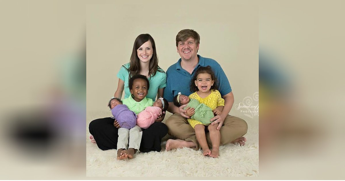 racially diverse family.jpg?resize=300,169 - Black Triplets Were Born In White Missionary Family By Embryos Adoption