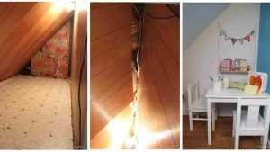secret treasure room 300x169 - These Parents Turned A Dingy Old Storage Room Into Something Amazing for Their Kid