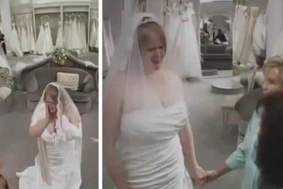 bride wedding dress bullies 412x275.jpg?resize=412,275 - A Mother Insulted Daughter Trying Out Wedding Dresses, Strangers Decided To Step In