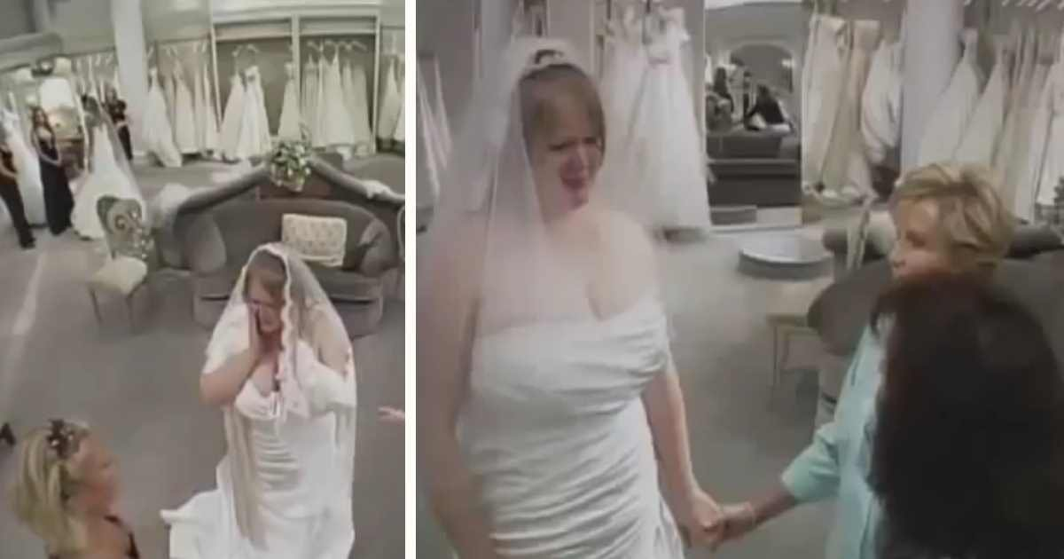 bride wedding dress bullies.jpg?resize=1200,630 - A Mother Insulted Daughter Trying Out Wedding Dresses, Strangers Decided To Step In