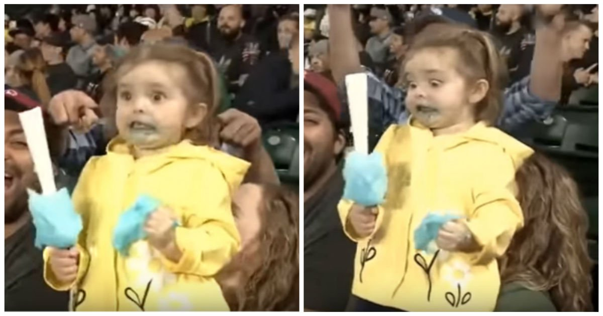 first sugar rush cover.jpg?resize=1200,630 - 3-Year-Old Stole The Show As She Enthusiastically Enjoyed Her First Ever Cotton Candy