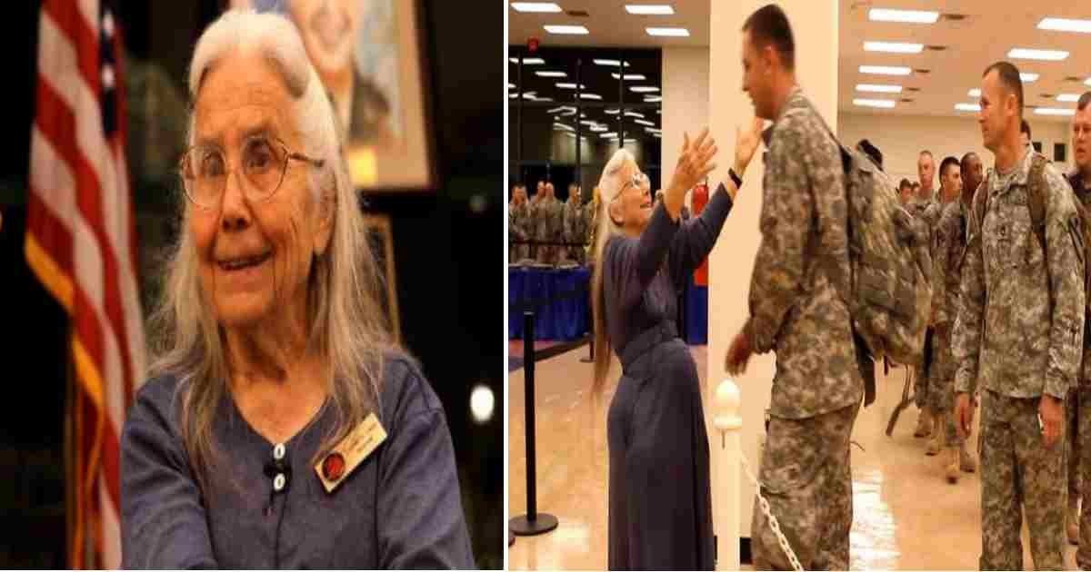 grandma hugs soldiers.jpg?resize=1200,630 - For 12 Years Grandma Hugged Every Soldier Before Deployment, But One Day She Wasn't There
