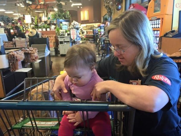 kind cashier with down syndrome 3 300x225 - At Supermarket, Mother Of Daughter With Down Syndrome Is Comforted By Cashier