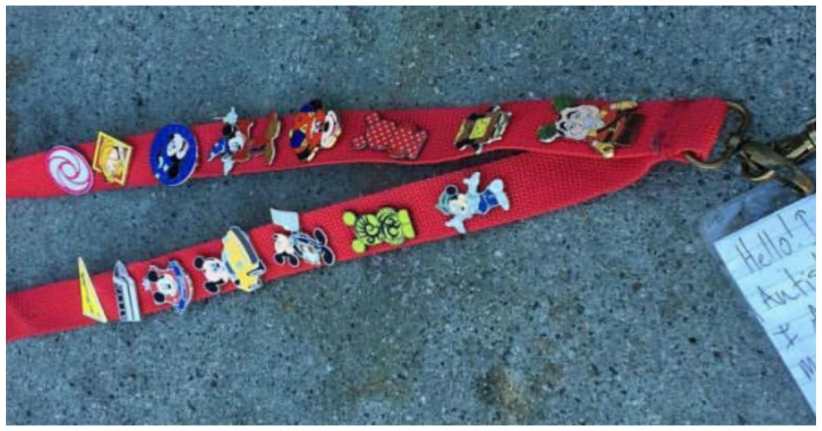 mickey pins cover.jpg?resize=1200,630 - Disneyland Employee Desperately Looked For Lanyard's Owner As Note Indicated 'I Am Autistic'