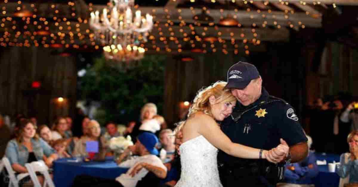 officers dance bride wedding.jpg?resize=1200,630 - Bride Dedicated Front Seat To Her Late Father During Her Wedding Ceremony