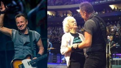 springsteen fan dance 412x232.jpg?resize=412,232 - 91-Years-Old Fan Finally Danced With Her Long Time Favorite Bruce Springsteen
