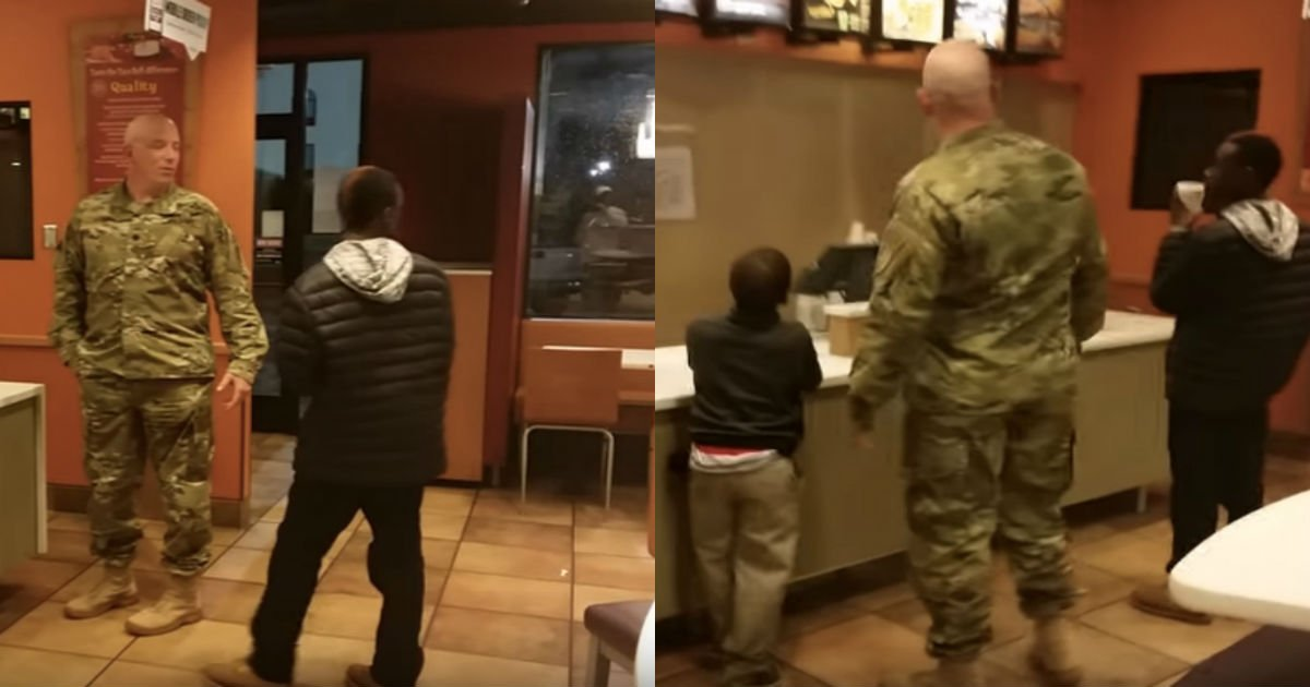 taco bell cover.jpg?resize=1200,630 - Soldier Was Ordering His Meal When Two Young Boys Selling Homemade Desserts Approached Him