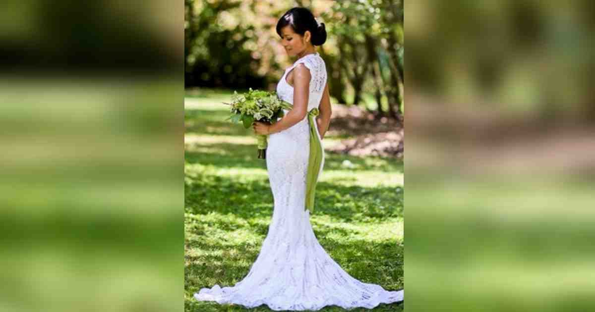 wedding dress crochet.jpg?resize=1200,630 - Hardworking Bride Crocheted Her Own Wedding Dress