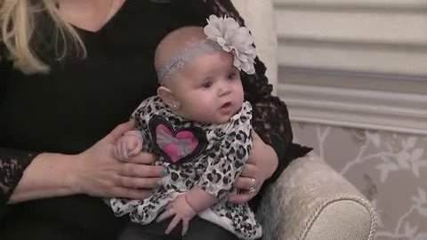 Milagros, the baby who was resecued from the dumpster. Image via WTVR