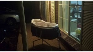 baby bassinet cover 300x169 - Every Night, She Puts Baby Bassinet Outside Of Her Front Door.. Then, She Waits For THIS Sound..