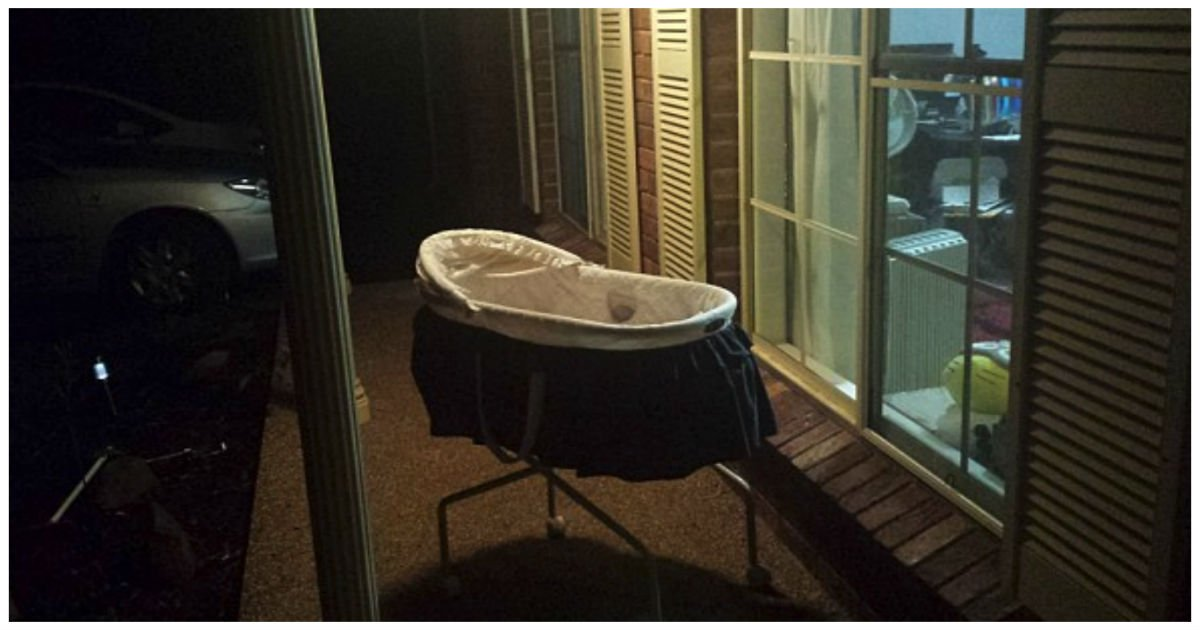 baby bassinet cover.jpg?resize=1200,630 - Woman Explained Why She Leaves Baby Bassinet Outside Of Her Front Door Every Night