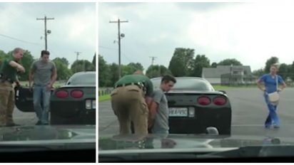 boyfriend pulled over surprise cover 412x232.jpg?resize=412,232 - Officer Pulled Over A Man And Made Him Kneel Down Before His Girlfriend - That's When The Man Proposed