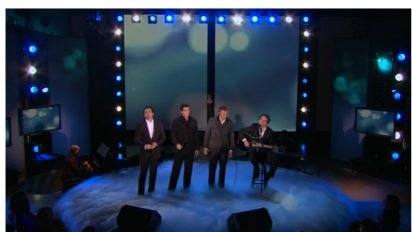 canadian tenors celine dion 412x232.jpg?resize=412,232 - The Canadian Tenors Surprised By Their Idol Céline Dion Who Joined Them On Stage