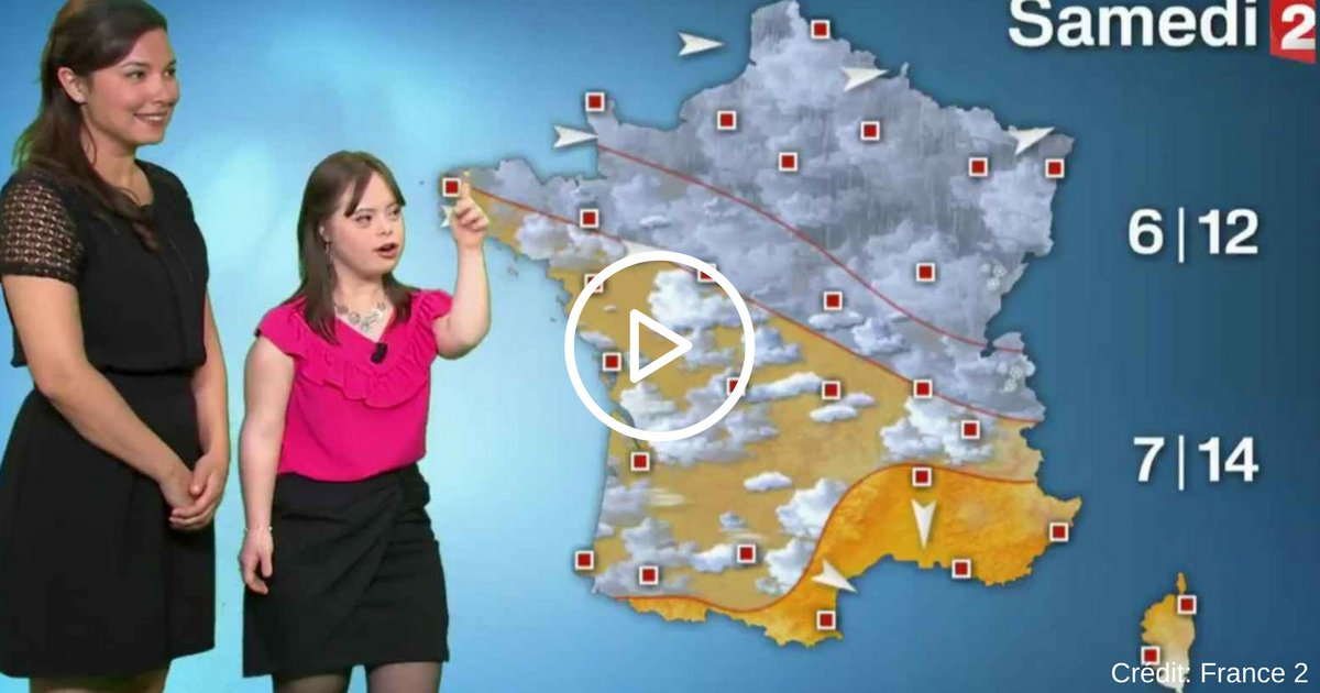 credit  france 2.png?resize=1200,630 - Mélanie, jeune femme trisomique, réalise son rêve et devient «miss météo» sur France 2