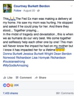 facebook flood prayer - She's Devastated When Flood Destroys Her House.. Then, HE Walks Up To Her And Asks The Unthinkable