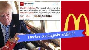 hacker ou stagiaire cacc82lin 300x169 - «I'm loving it». Mc Donald's envoie un Tweet salé à Trump.