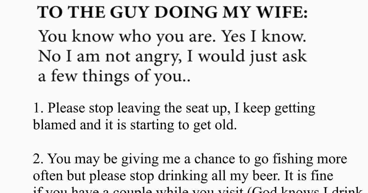 Husband Finds Out Wife Is Cheating So He Writes INCREDIBLE Letter
